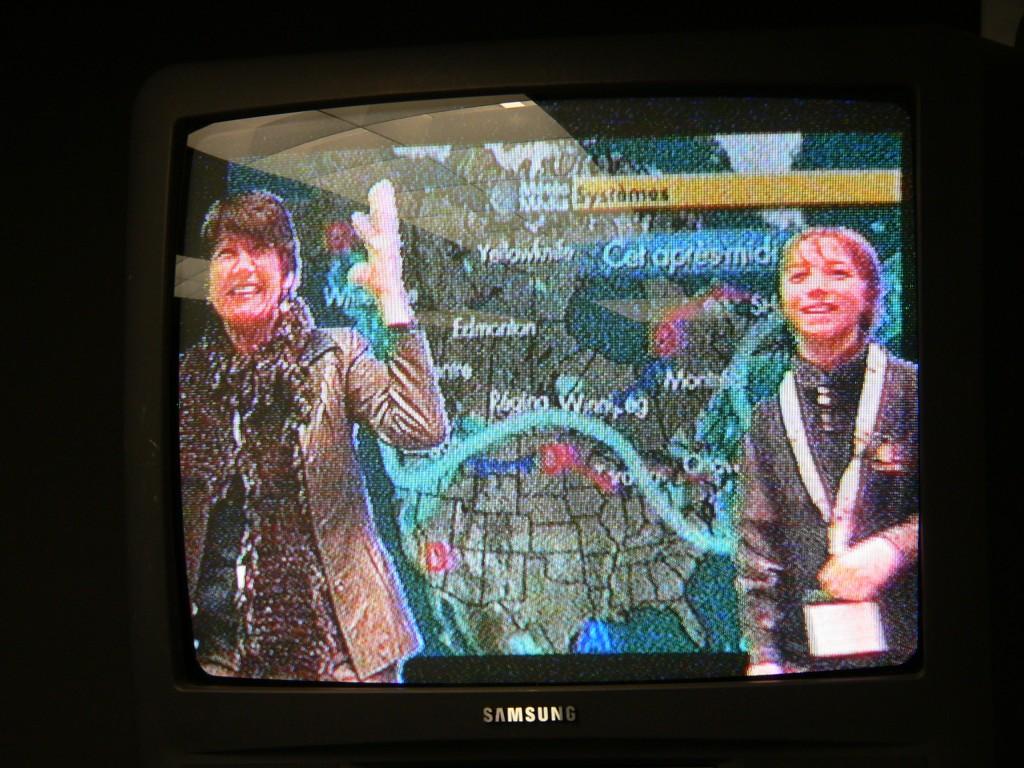 Écran moniteur dans le studio télé