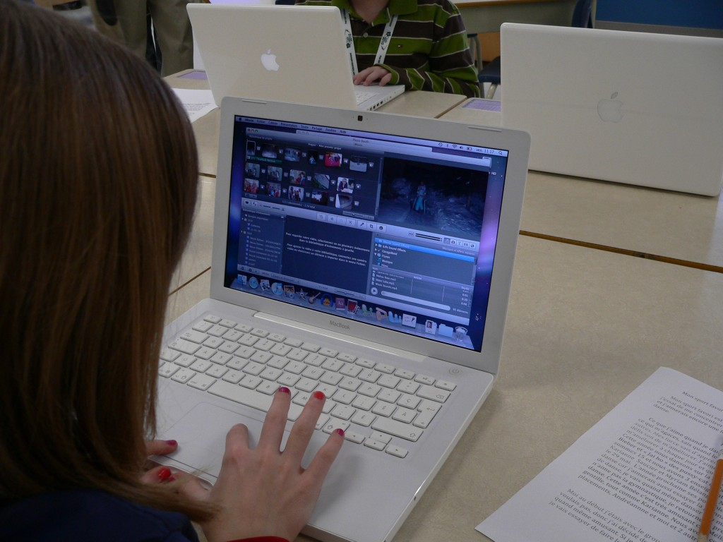 Montage vidéo par une élève du CAHM
