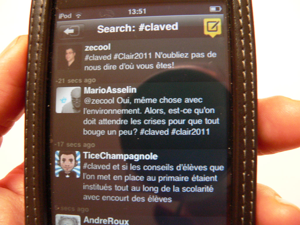 Le ClavEd sur mon iPod Touch