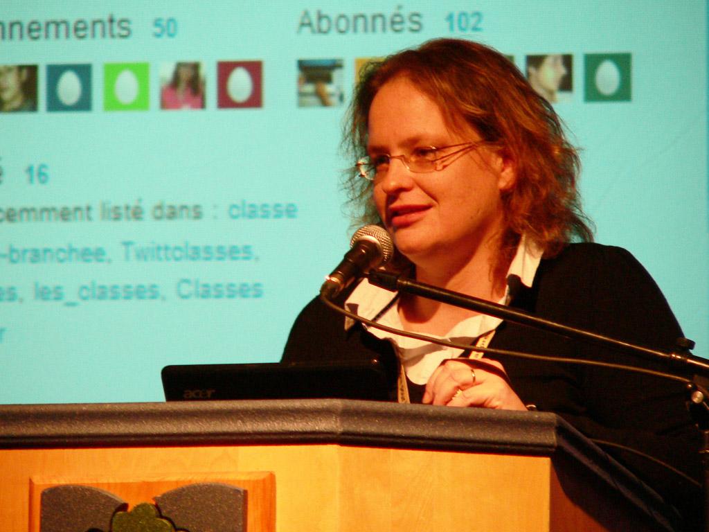 Laurence Juin, pendant sa conférence